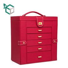 Luxus High-End-PU-Leder Karton Schublade zarten Schmuck sammeln Container Schaufenster Geschenkbox