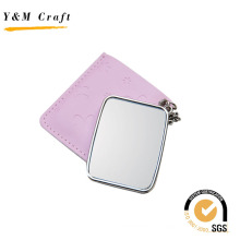 Neu Design Pink PU Spiegel mit Hot Press Logo