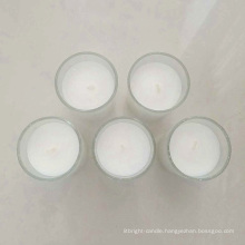 china factory 8hours white wax no smoke filled votive glass candles wholesale