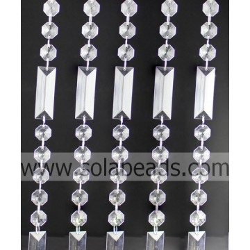 Xmas Decoration 50MM&18MM Crystal Beading Strand Garland