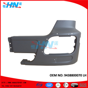 Front Steel Bumper 9438800070 For Benz Truck Replacement Parts