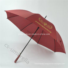"Red Custom 27"" Golf Advertisement Straight Umbrella with Logo (YSS0112)"