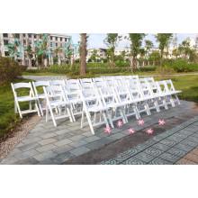 PP cadeira de dobra de resina branca para festa