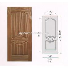 Высококачественный натуральный тиковый шпон MDF / HDF дверная обшивка