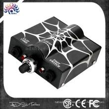 2015 Heißer Verkauf spiderweb Glanzentwurf Liner oder Shader Gebrauch Tätowierung-Maschine und Tätowierung-Gewehr-Spg.Versorgungsteil mit zwei Farben