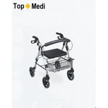 Topmedi Medical Equipment Foldable Aluminum Rollator with Brake