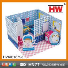 3D головоломка ванной играть дома Картон игрушка дом