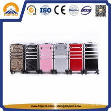 Caja de aluminio grande colorida de la carretilla / caja del salón