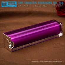 ZB-PK80 80ml buena calidad cristalina material capas dobles cuadrados hermosa botella de plástico