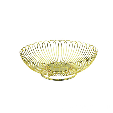 Hot Selling Metal Round Kitchen Vegetable Basket Rack Bowl Modern Simple Fruit Washing Basket