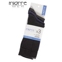 Miorre Качество OEM Пряжа хлопок удобные носки 3 упаковки и разнообразие цвета