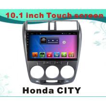 Reproductor de DVD del coche del sistema del androide para la ciudad de Honda Pantalla de la capacitancia de la pulgada 10.1 con Bluetooth / WiFi / GPS