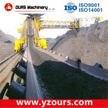 Transportador de correia de carvão industrial no sistema de transporte