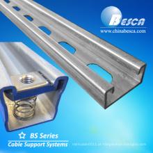 Canal galvanizado galvanizado perfurado e de aço do suporte de C da categoria do aço inoxidável