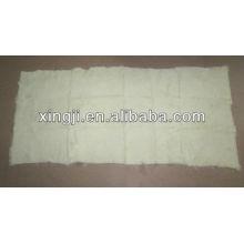 Sheared 1.5cm European rabbit plate natural white color 12skins or 9skins