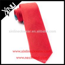 100% artesanal perfeito nó Mens atacado sólido vermelho gravatas