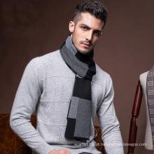 Moda masculina de lã de malha inverno lenço longo quente (yky4621)