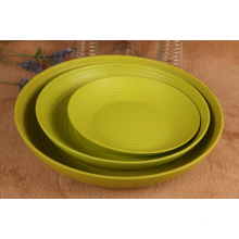 (BC-P1016) Fashionable Design Eco Bamboo Fiber Biodegradable Small Plate