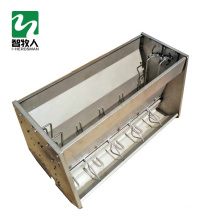 Stainless steel double side pig feeding tough