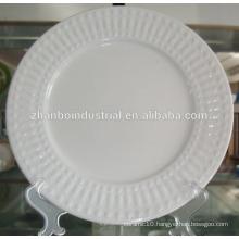 ceramic porcelain white wavy dinner plates