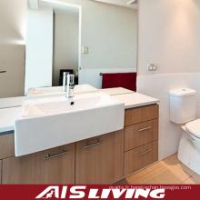 Vanité d'armoires de salle de bains de placage de style campagnard (AIS-B005)