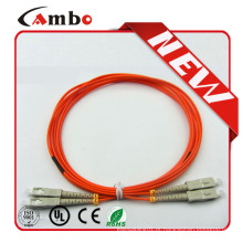 PVC, LSZH, OM3, LC, SC, FC Plenum Cabo de conexão de fibra óptica