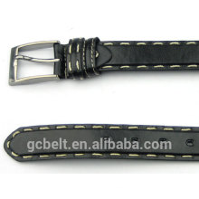 Fashion fake leather belt for man's dress