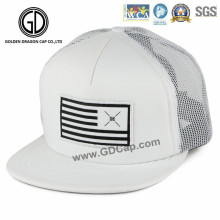 Quality Hip Hop Adjustable Snapback Trucker Hat with Woven Patch