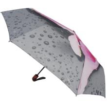 Guarda-chuva de viagem Auto Flower Design 3 Folding Umbrella