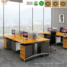 Fashion 4 Person Seats Wooden Workstation with Bamboo Desktop (H60-0203)