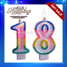 Velas calientes del número del cumpleaños de la venta