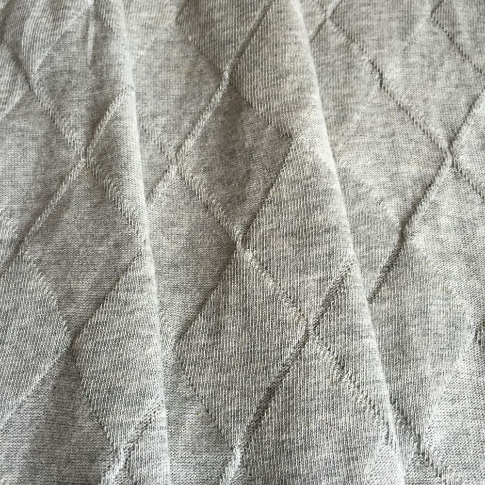 Diamond-shaped cotton knitting Jacquard fabric
