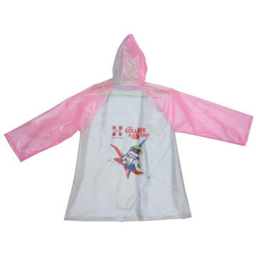 lovely Girl's pink Pvc Raincoat