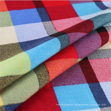 2016hot Sale Plaid Shirt Viscose Fabric for Spring/Summer Garment