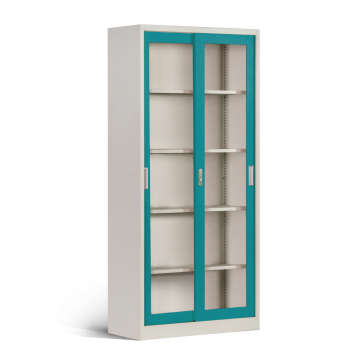 Turquoise Metal File Storage Cabinets Sliding Door Cabinets