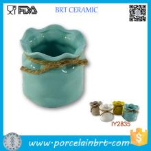 Hot Pot with Rope Sundries Storage Box Ceramic Box