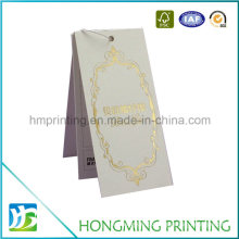 Custom Logo Embossing Paper Folded Hang Tag