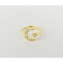 Xingyue personality ring 925 sterling silver gold-plated jewelry female starry sky ring jewelry fine fashion custom ring