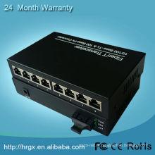 conversor de mídia de fibra com 8 portas, sinal ethernet sobre transmissão de fibra