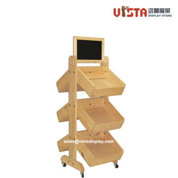 Wooden-Made+Promotional+Display+Shelves+with+Wheels