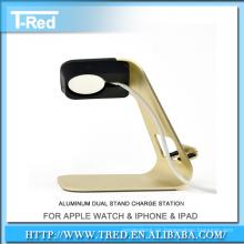Soporte de lujo de aluminio para el soporte de carga del reloj de manzana