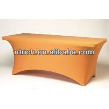 Trade show spandex table cloth, square lycra table cloth for banquet