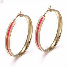 Traditionelle Design Ohr Manschette Antik Emaille Rose Gold Ohrring Schmuck
