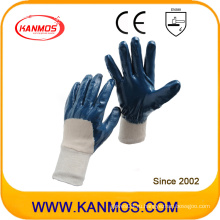 Противоскользящие нитриловые трикотажные перчатки с защитной перчаткой (53001)