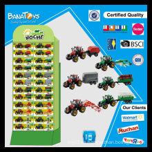 Camión tractor de granja libre con pdq juguetes de granja de caja de papel