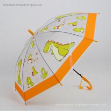 Fancy Cute Cartoon Transparent Poe Kids Umbrella with Printing Pattern