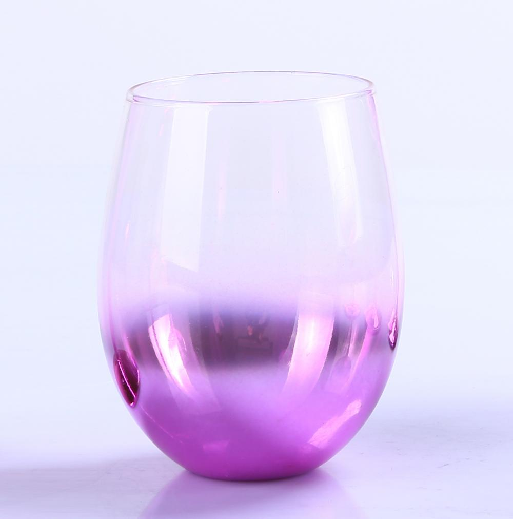 Br 9988 2cheap Decorative Lead Free Glass Pink Wine Goblet
