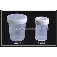 CE y FDA Certificado Sputum, contenedor de heces 100ml, 60ml