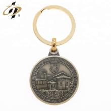 Personnalisé rond 3d métal propre conception porte-clés jeton