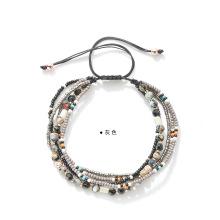 Beads Braided Rope Bracelet Set Handmade Wrap Bracelet Charm Woman Girls - Unique Design
